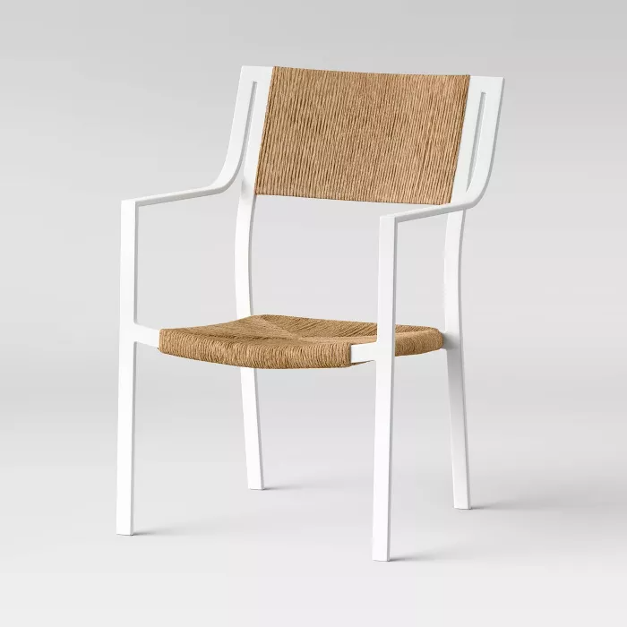 buchanan patio dining chair white