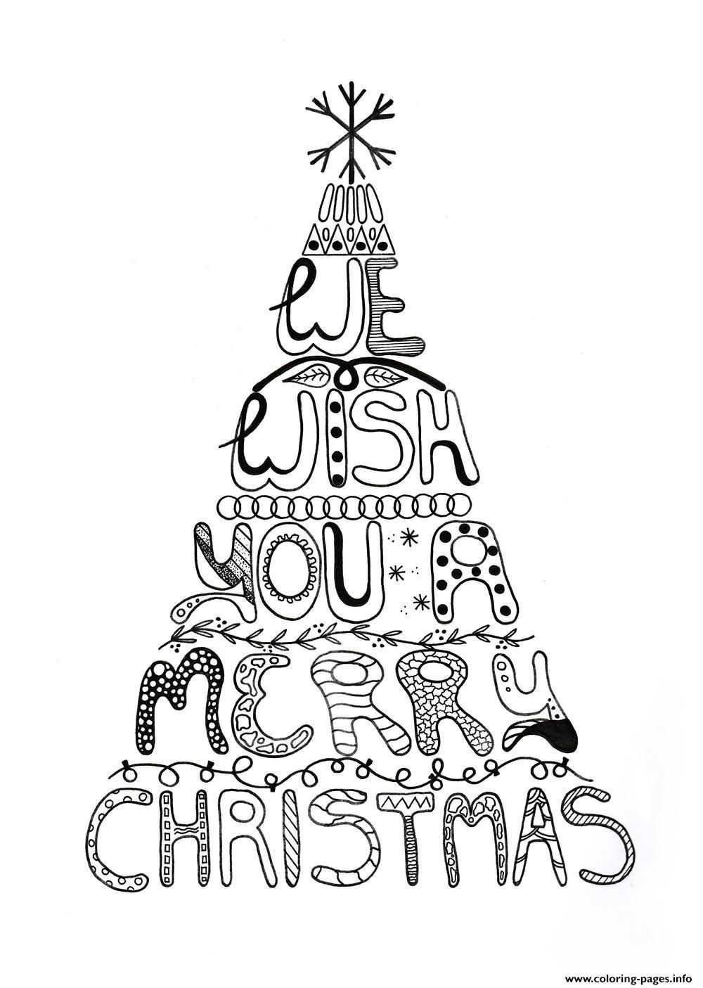 We Wish You A Merry Christmas Tree Coloring Page Merry Christmas Coloring Pages Christmas Tree Coloring Page Printable Christmas Coloring Pages