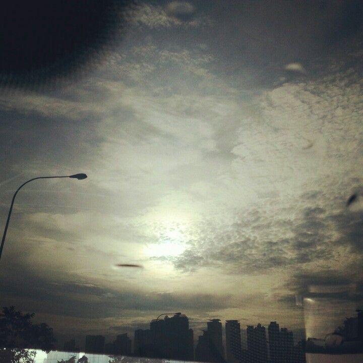 Dramatic sky at kuala lumpur this December
