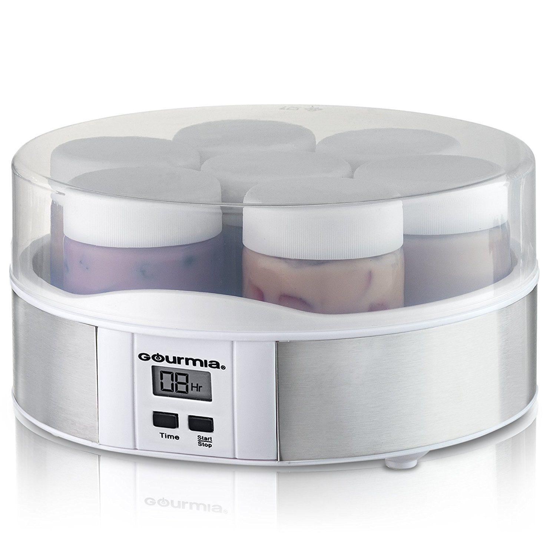 Gourmia GYM1620 Digital Yogurt Maker With 7 Glass Jars Customize To ...