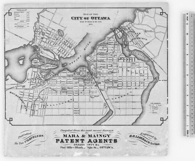 Ottawa Map 1874 Ottawa Electric Railway Wikipedia The