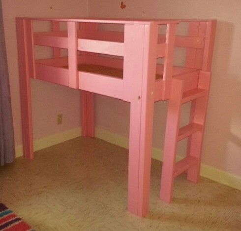 Our 3 Year Old Daughters Toddler Size Loft Bed That My Husband Built