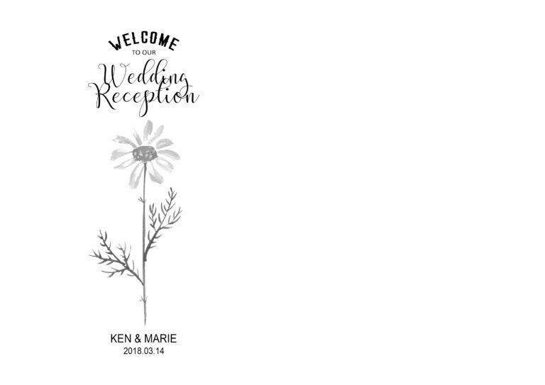 春の結婚式に!お花デザインのくるくる席次表を手作りしよう