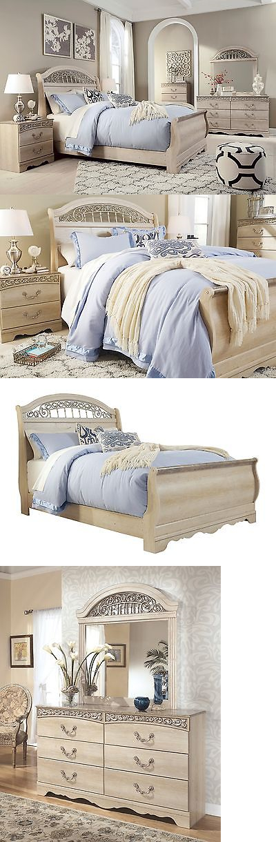 Bedding: Ashley Catalina Queen 6 Piece Sleigh Bedroom Set Furniture B196 BUY IT NOW ONLY: $1075.0