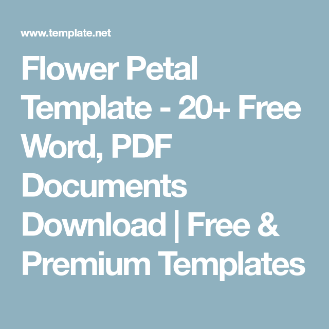 Flower Petal Template - 20+ Free Word, PDF Documents Download | Free ...