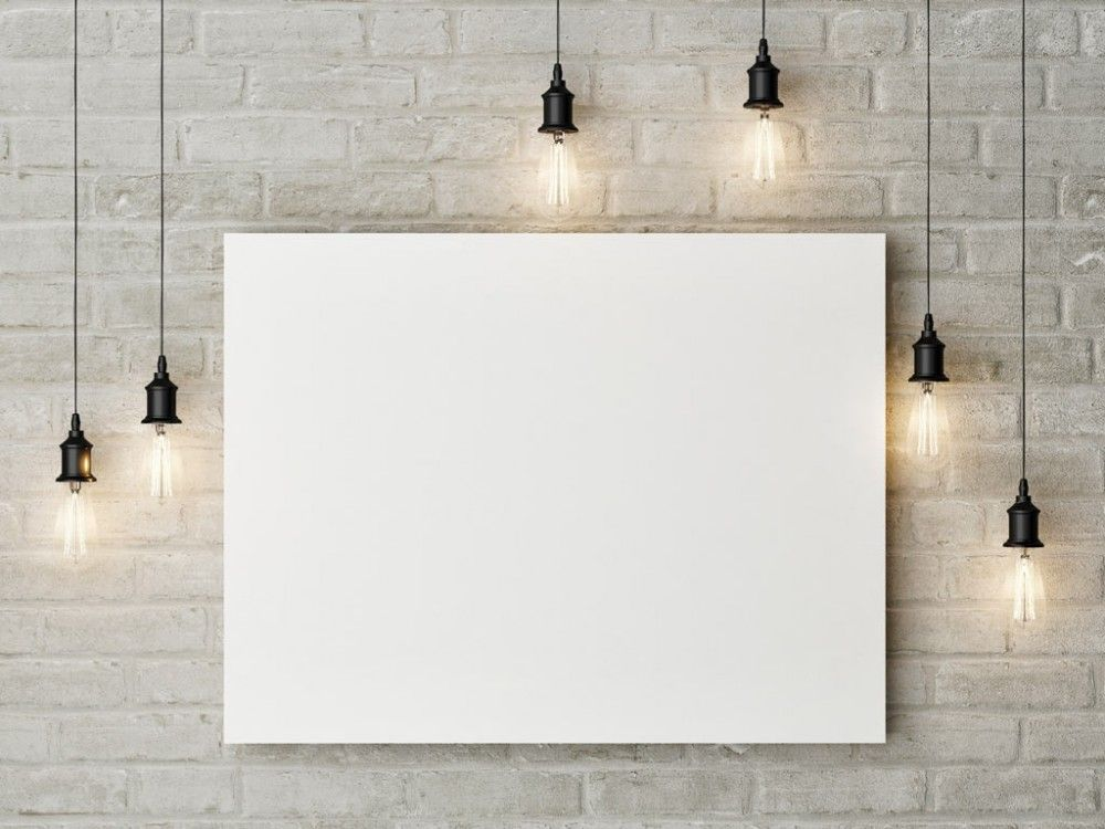 Painting On A Wall Mockup Free Psd Free Canvas Design Design Mockup Free