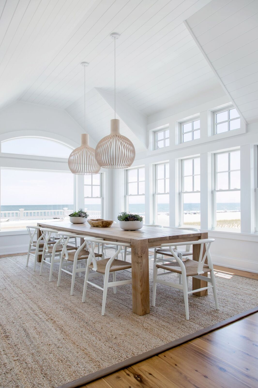 This Seaside House Is Giving Us So Many Beachy Decor Ideas Domino Beach House Dining Room House Interior Dining Room Design
