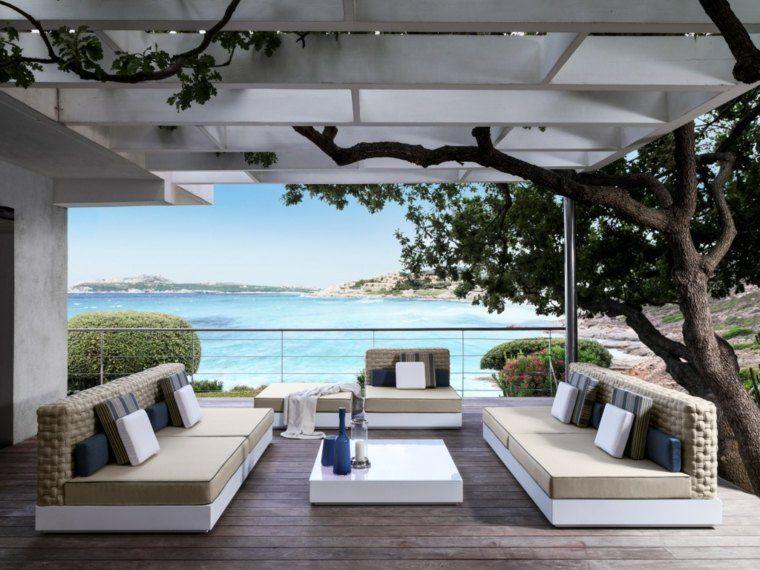 Aménagement extérieur piscine avec du mobilier design | Terrasse ...