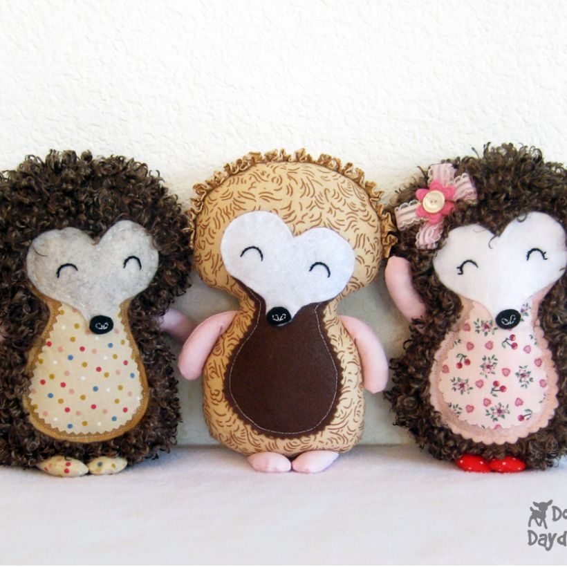 Dolls And Daydreams / Hedgehog Sewing Pattern | Cute as a button ...