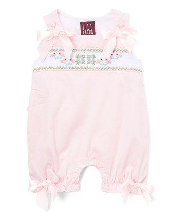 Look what I found on #zulily! Pink & White Bird & Flower Romper - Infant & Toddler #zulilyfinds
