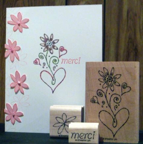 Simple Merci with pink flowers