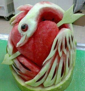 Its a watermelon too cool to eat