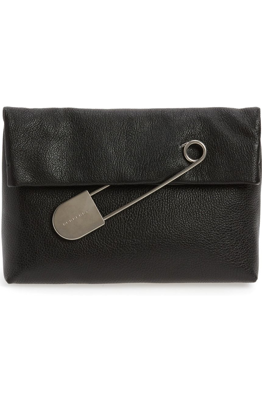 Burberry medium safety pin leather clutch nordstrom