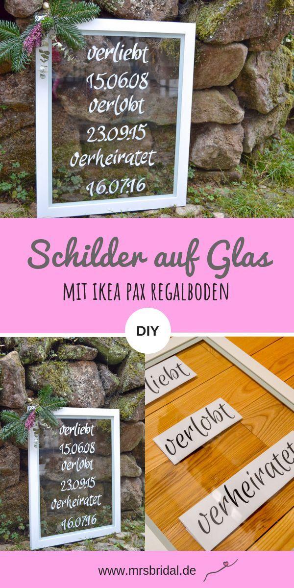 Photo of DIY Schilder auf einer Glasscheibe mit IKEA Pax – Mrs Bridal