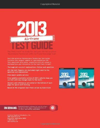 "Airframe Test Guide 2013: The ""Fast-Track"" to Study for and"