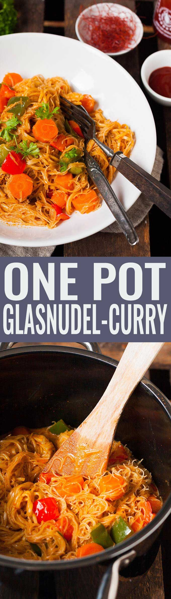 Photo of One pot glass noodle curry – 20 minutes and incredibly creamy