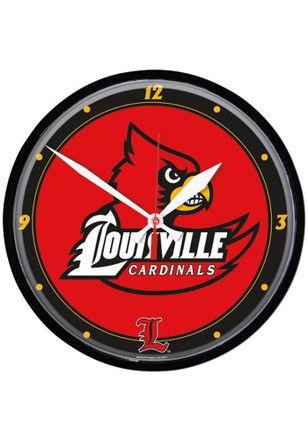 Louisville Cardinals 12 75in Round Wall Clock Louisville