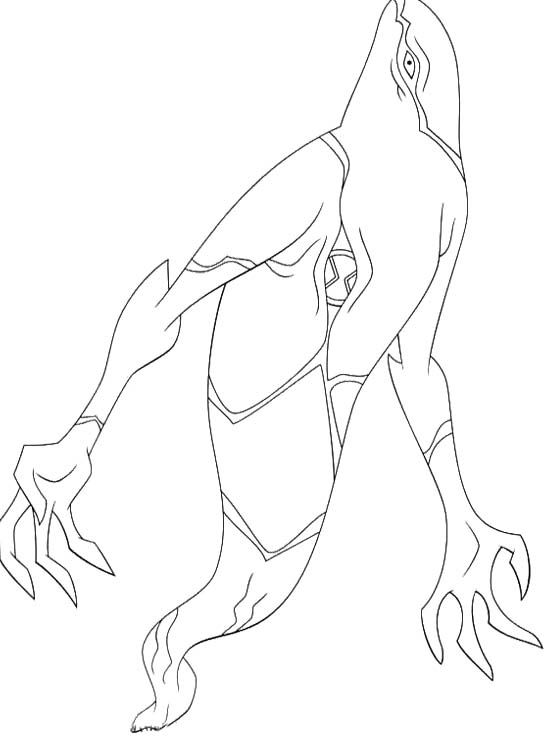 Ben 10 Aliens Ghostfreak Coloring Pages