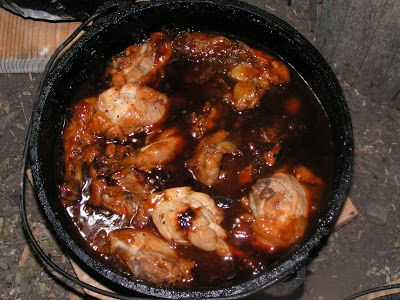 We love to go camping, and we love to dutch oven. I prepare everything and Mart cooks all of it. We speed it up so we can eat sooner, so we ...