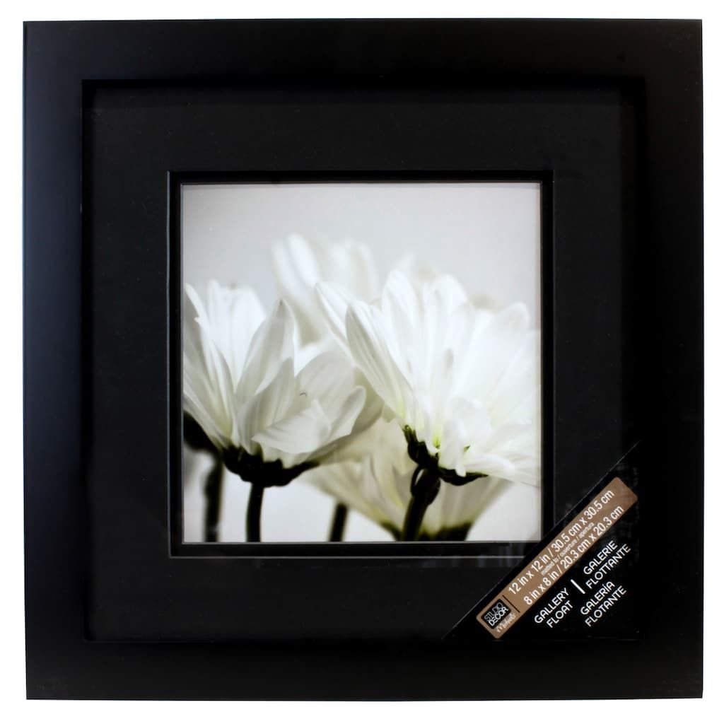 Black Square Gallery Wall Frame With Black Double Mat By Studio Decor Gallery Wall Frames Studio Decor Frames On Wall