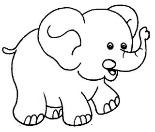 Desenhos De Safari Para Colorir E Imprimir Elefante Para Colorir