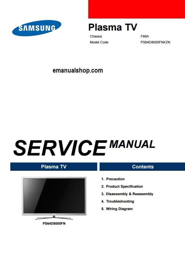 samsung f89a service manual download service repair manuals rh pinterest com samsung plasma tv repair manual samsung plasma tv service manual