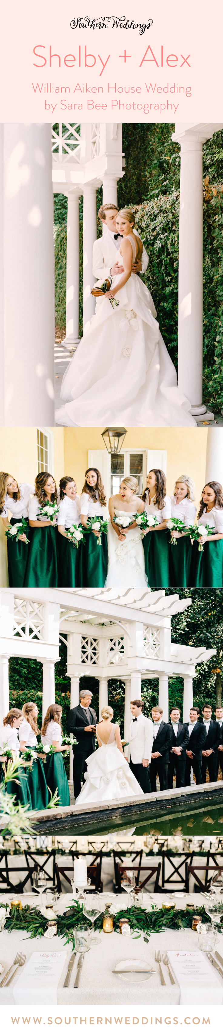 Wedding decorations outside house february 2019 William Aiken House Wedding by Sara Bee Photography  May