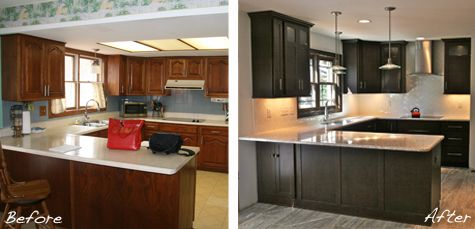 St. Louis Kitchen Remodel - Before & After | Face lifting ...