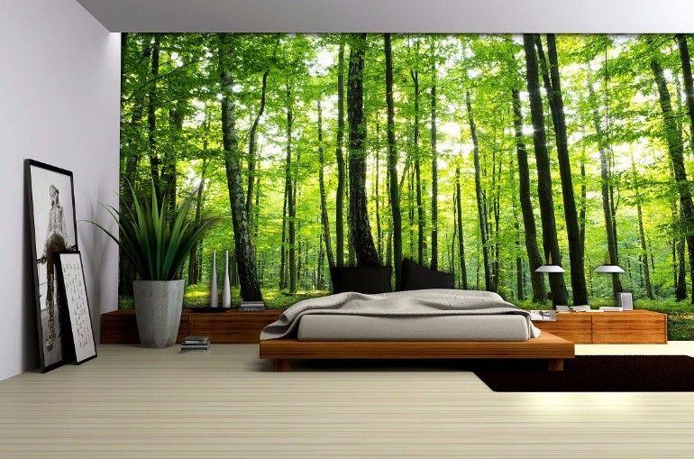 Luminous wallpaper on this master bedroom wall | www.masterbedroomideas.eu |  #luxuryfurniture #exclusivedesign #interiodesign #designideas #masterbedroom #masterbedroomideas #wallpaper #wallpaperdesign
