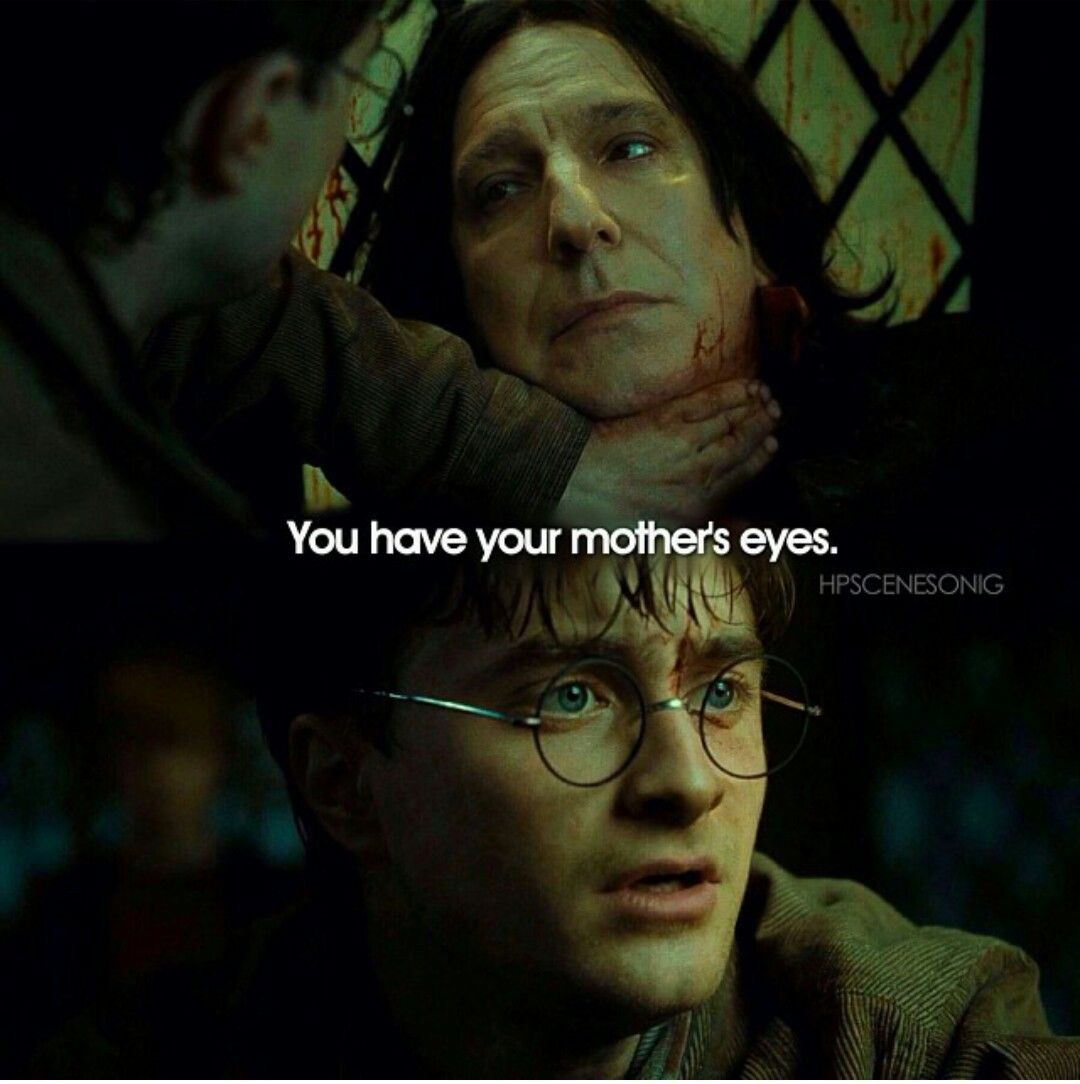 Harry Potter Scene You Have Your Mother S Eyes Harry Potter Severus Harry Potter Scene Snape Harry Potter
