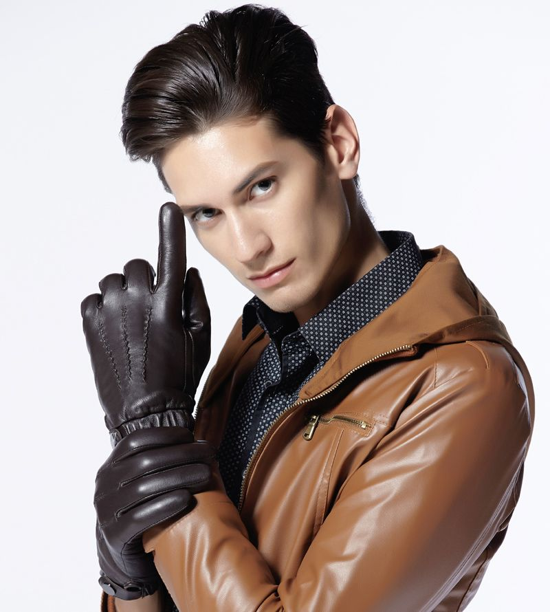 Men leather gloves
