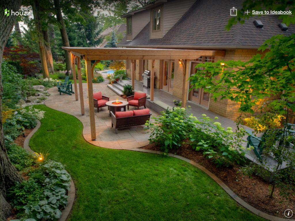 My Dream Backyard Houzz Com Small Backyard Landscaping Patio