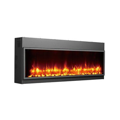 Wade Logan Belden Wall Mounted Electric Fireplace Wayfair