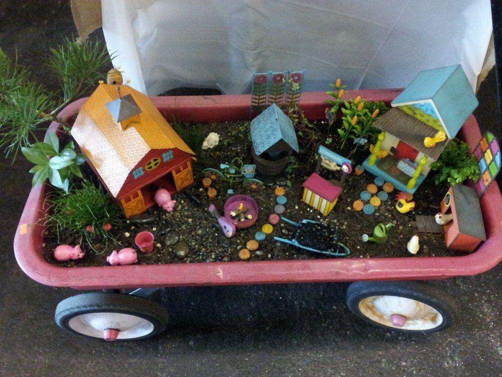 A Fairy Garden in a kids wheel wagon. Yelp Garden show