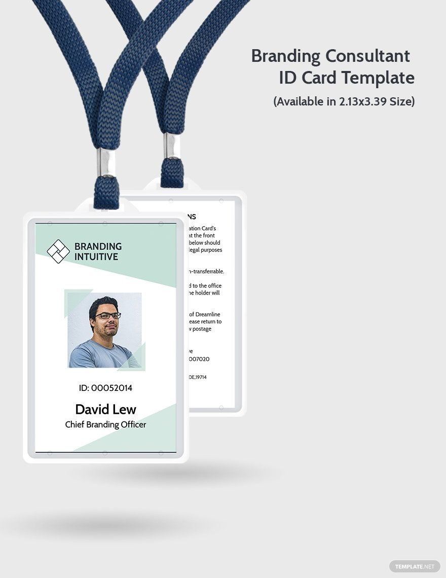 Branding Consultant Id Card Template Word Psd Indesign Illustrator Publisher Id Card Template Card Template Branding