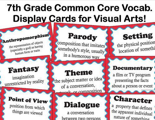 vocabulary lessons common core standards - 7th grade