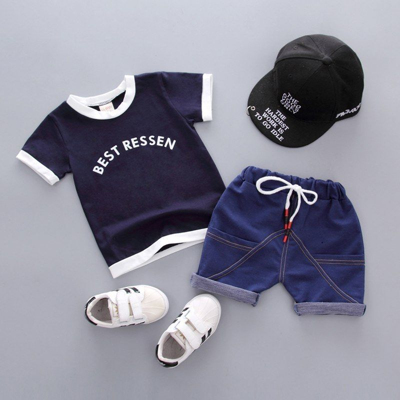 Pants Set Toddler Summer Casual Child Outfit Tops Kids T Shirt Baby Boys Tops