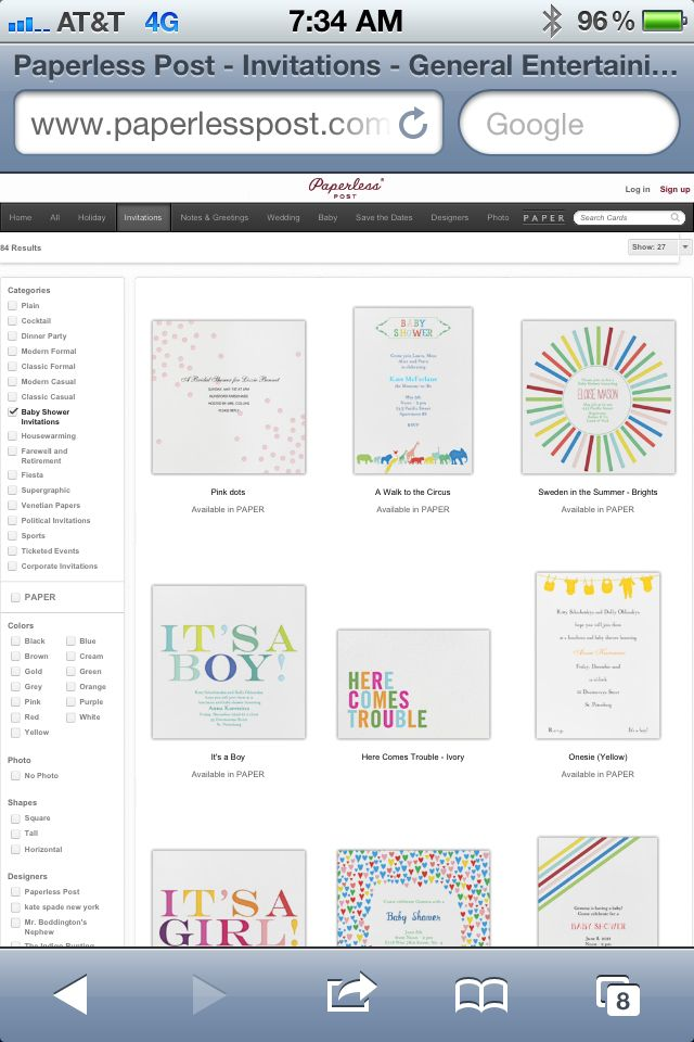 Paperless Post - can't seem to pin the actual site, but want to remember this! So many cute paperless invites!