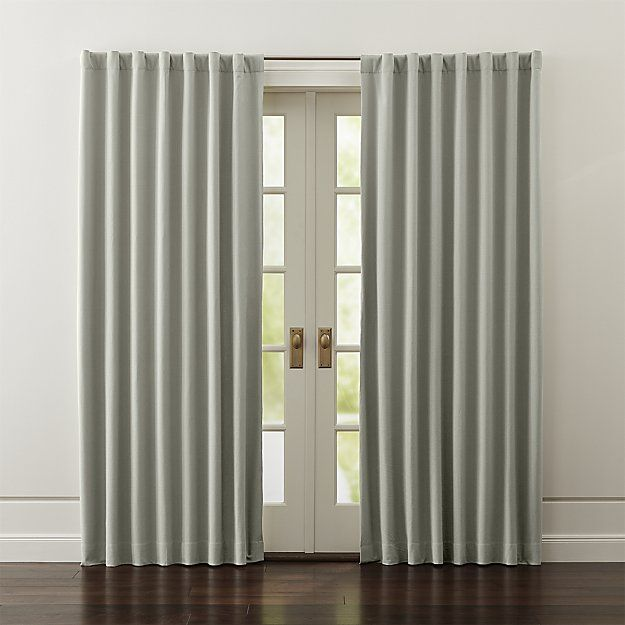 Wallace White Blackout Curtains Crate And Barrel With Images