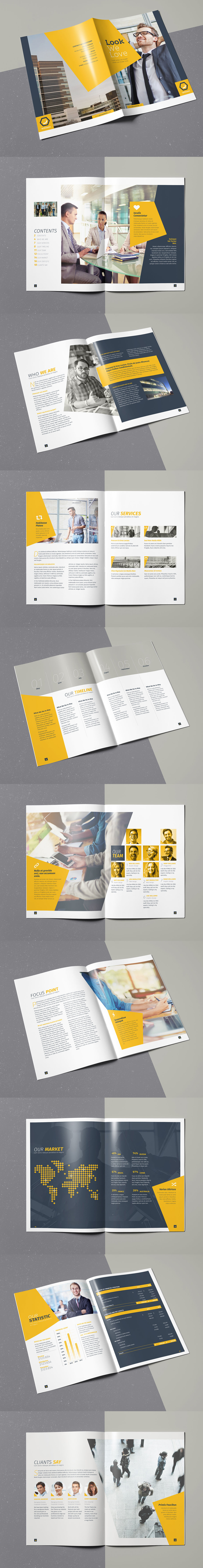 Corporate or Creative Agency Brochure Template InDesign INDD - 20 ...