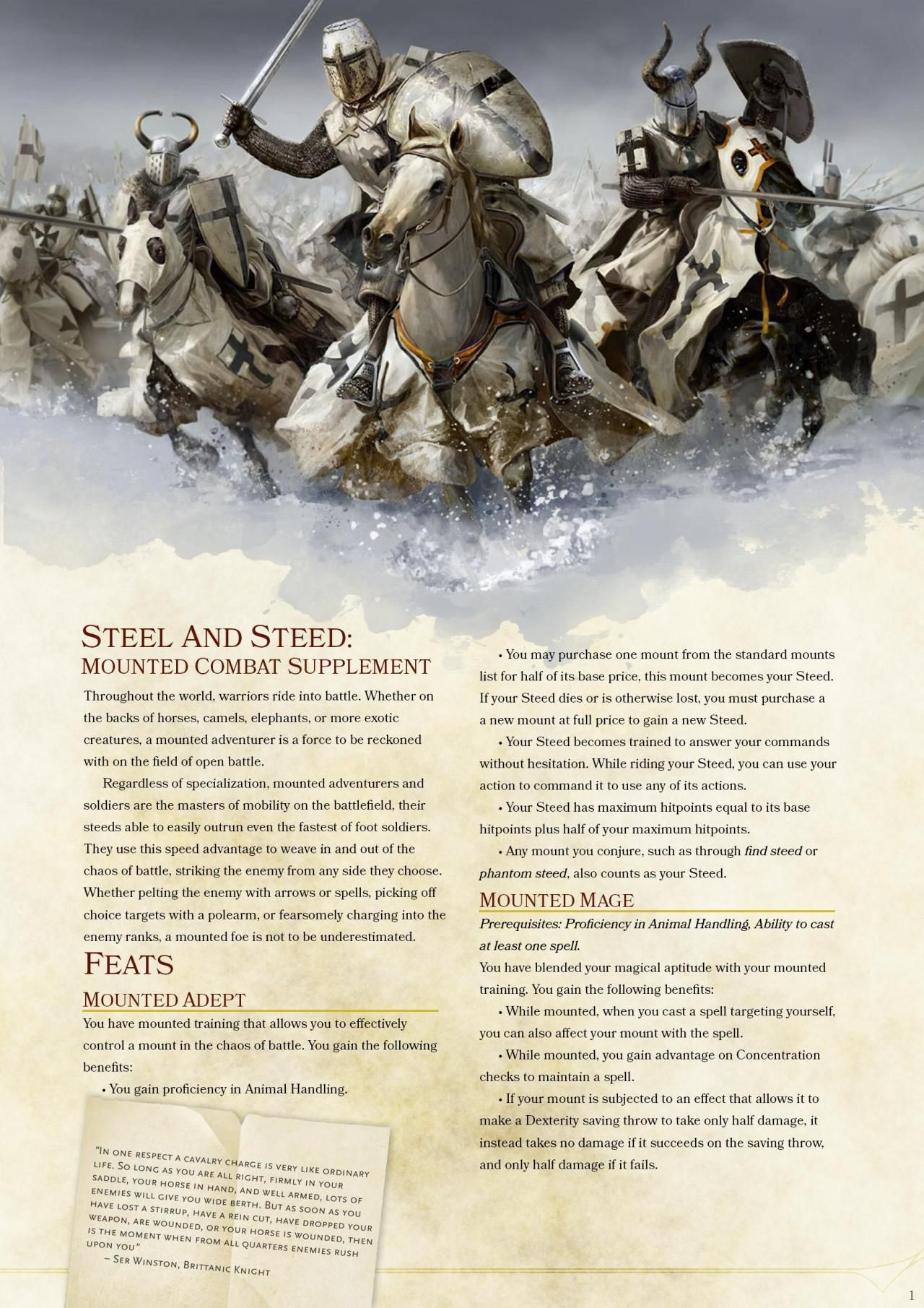 Mounted Combat Part  1 | Misc Fantasy/D&D in 2019 | Dnd 5e