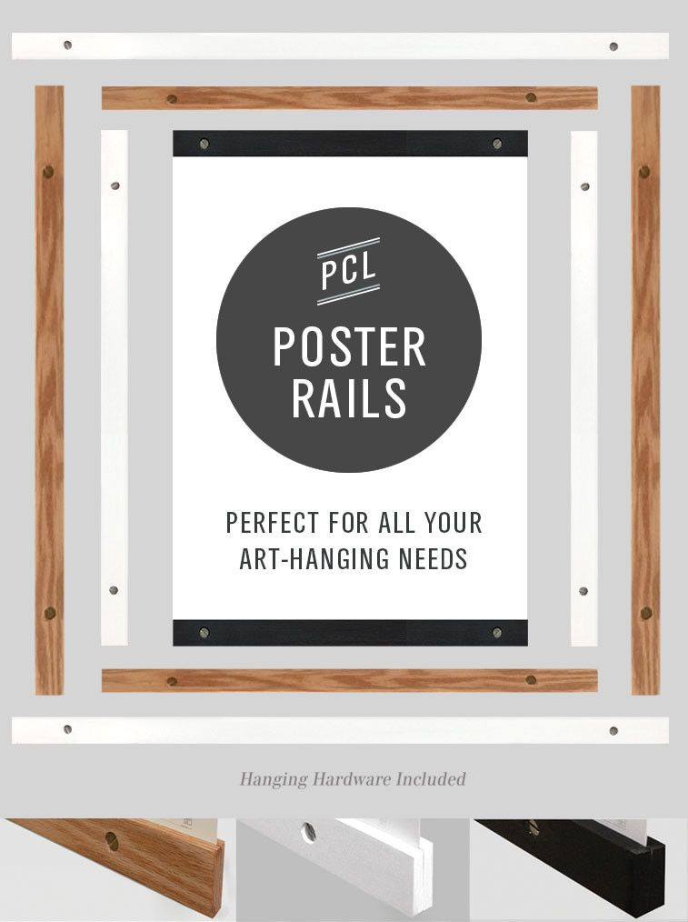 Poster Rails instead of frames or hangers by Pop Chart Lab The ...