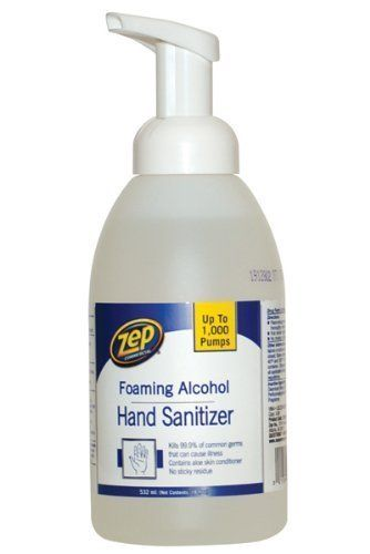 Enforcer ZUFHS18 18-Ounce Zep Alcohol Foaming Hand Sanitizer by Zep Commercial. $12.99. Enforcer zufhs18 18-ounce zep alcohol foaming hand sanitizer