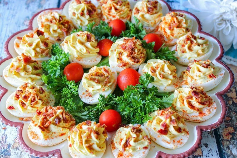 Bacon & Cream Cheese Deviled Eggs