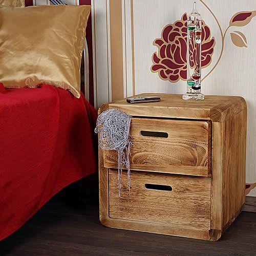 Nachttisch Mit 2 Schubladen Im Shabby Chic In Braun 44x44x35 Cm (BxHxT):  Amazon.de: Küche U0026 Haushalt