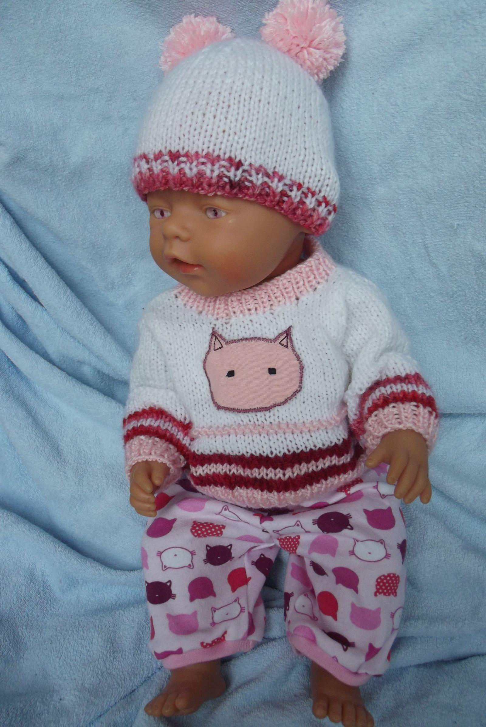 <span>Oblečky pro panenky - růžová kočka | <a…