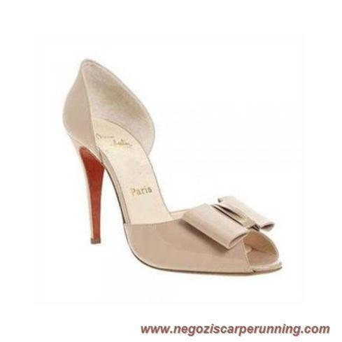 scarpe calcio bambino Jolie Noeud 120mm Bianco Christian Louboutin Donna