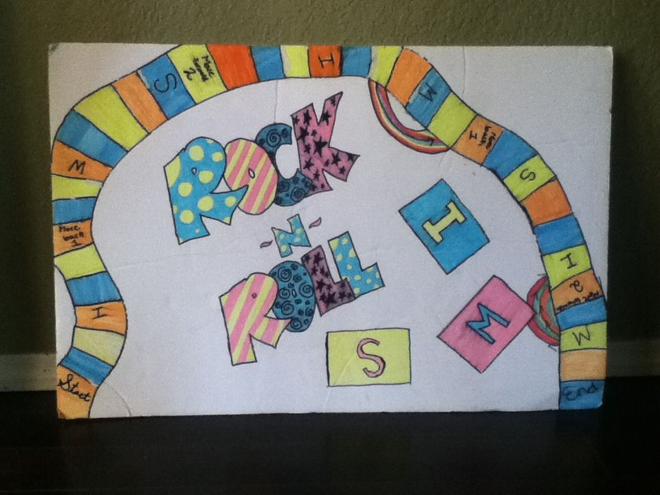 Make Your Own Game Board Use Markers And A Poster Board Make Your Own Game Kids Rugs Poster Board