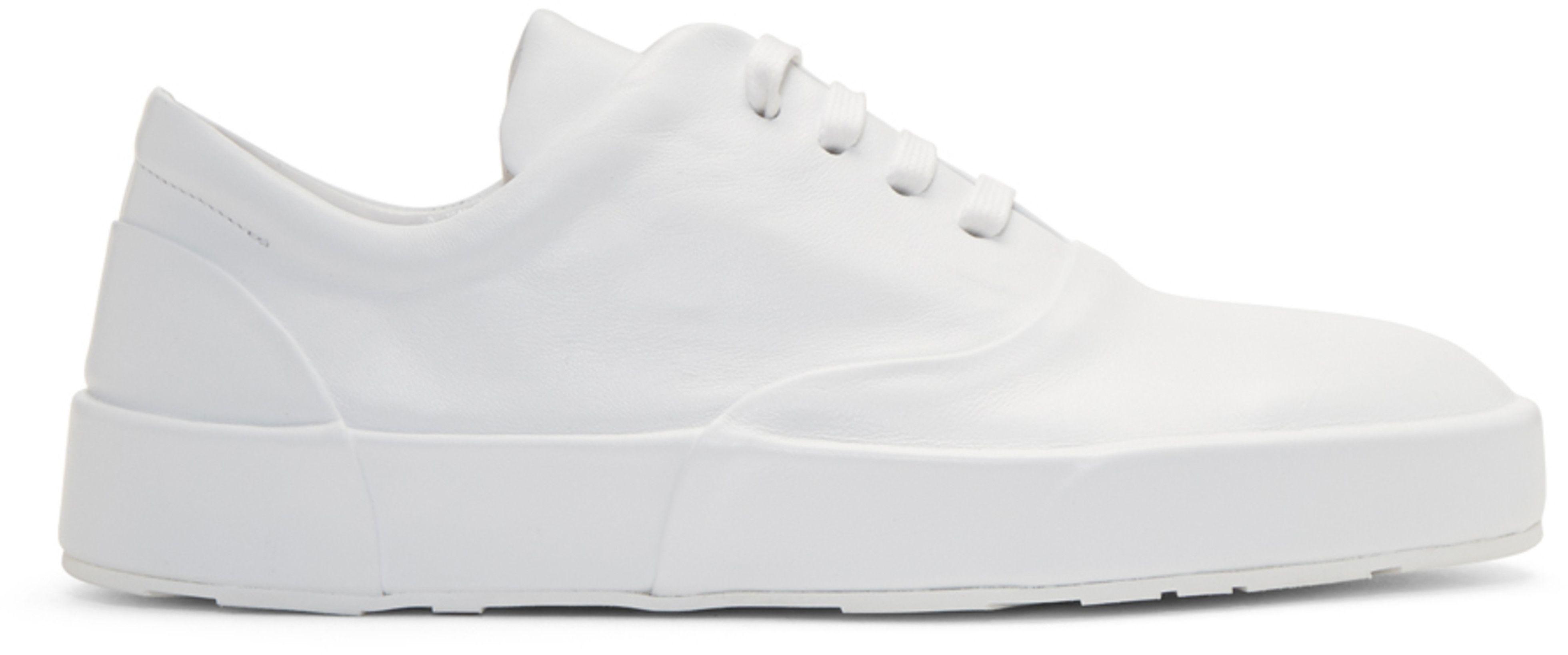 Jil Sander White Leather Classic Sneakers dnwnunrT