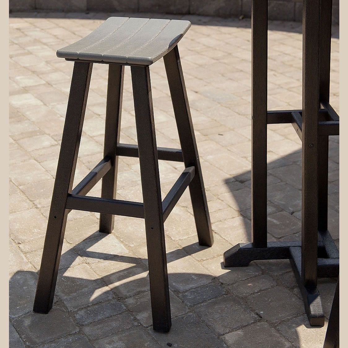 Polywood Contempo 30 In Saddle Bar Stool Bar Stools Commercial